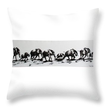 Elephant Fun Throw Pillow