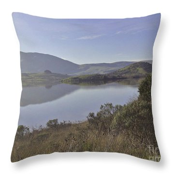 Elephant Hill In Mist Throw Pillow