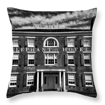 Throw Pillow featuring the photograph Elephant Hotel by Eric Lake