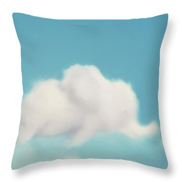 Elephant In The Sky Throw Pillow by Amy Tyler