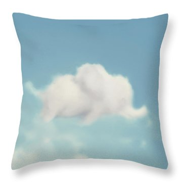 Throw Pillow featuring the photograph Elephant In The Sky - Square Format by Amy Tyler
