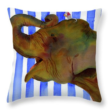 Elephant Joy Throw Pillow