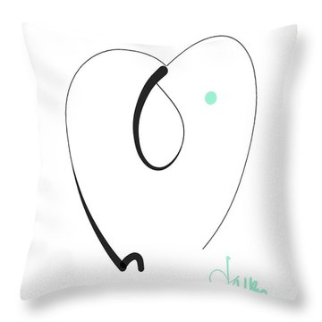 Throw Pillow featuring the mixed media Elephant by Larry Talley