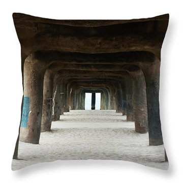 Elephant Legs Throw Pillow by Lorraine Devon Wilke