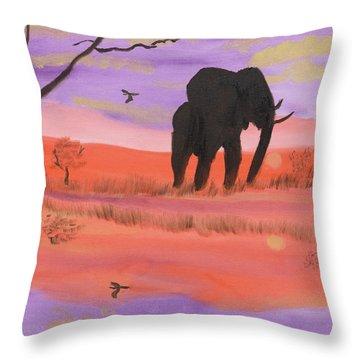Elephant Spotlight Throw Pillow