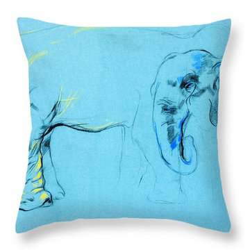 Elephant Painting By Ivailo Nikolov Throw Pillow by Boyan Dimitrov