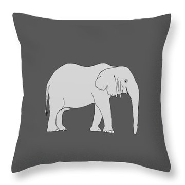 Elephant Throw Pillow by Priscilla Wolfe