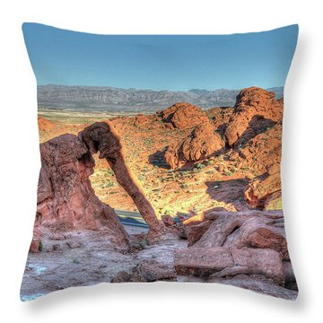 Elephant Rock - Hdr - Valley Of Fire Throw Pillow