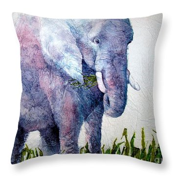 Elephant Sanctuary Throw Pillow