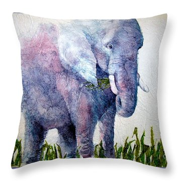 Elephant Sanctuary Throw Pillow