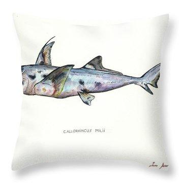 Elephant Shark Throw Pillow