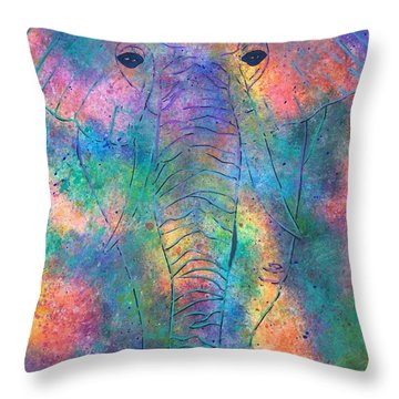 Elephant Spirit Throw Pillow