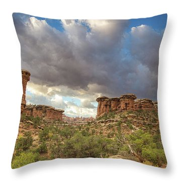 Elephant Sunrise Throw Pillow