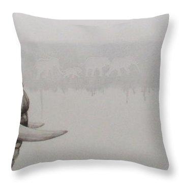 Elephant Tears Throw Pillow