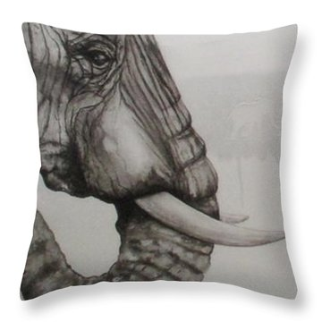 Elephant Tears Throw Pillow