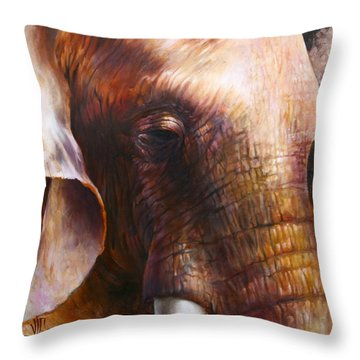 Elephant Empathy Throw Pillow