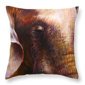 Elephant Empathy Throw Pillow