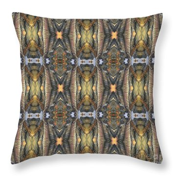 Elephant With Branch Pattern 1 Throw Pillow