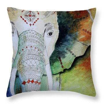 Elephantastic Throw Pillow