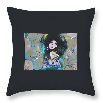 Eletric Ross Throw Pillow
