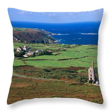 Elevated View Of Fields And The West Throw Pillow