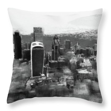 Elevated View Of London Throw Pillow by Gillian Dernie