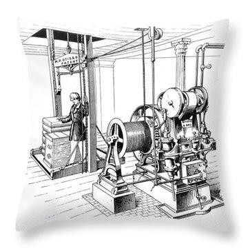 Elevator, 1862 Throw Pillow by Granger