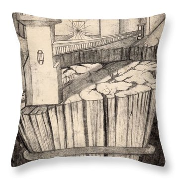 Elevator To Heaven Throw Pillow