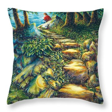 Elevator To Therapy Throw Pillow