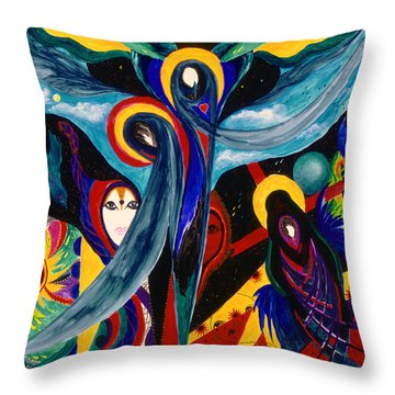 Grieving Throw Pillow by Marina Petro