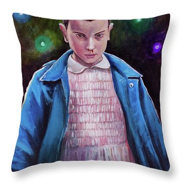 Eleven Throw Pillow by Tom Carlton