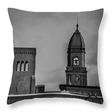 Eleven Twenty Says The Clock In The Tower Throw Pillow by Bob Orsillo