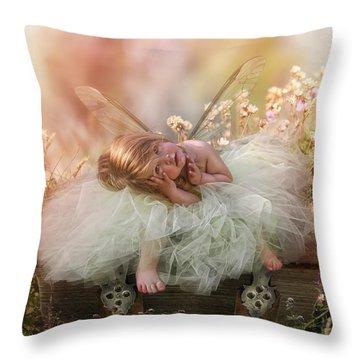 Elf Baby Throw Pillow
