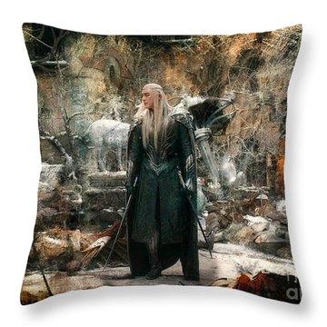 Elf King Thranduil  Throw Pillow