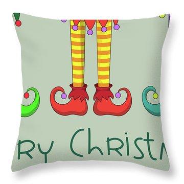 Elf Legs Throw Pillow