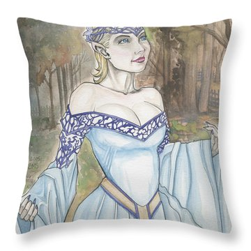 Elf Lotr Throw Pillow by Jimmy Adams