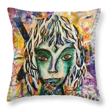 Elf Throw Pillow by Mimulux patricia no No