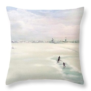 Elf Stedentocht- Eleven Cities Tour Throw Pillow by Annemeet Hasidi- van der Leij