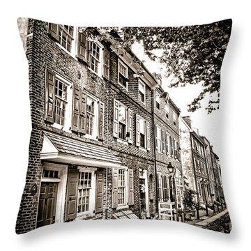 Elfreth Alley  Throw Pillow