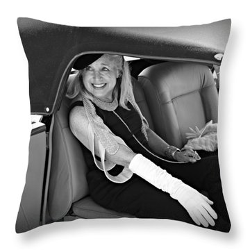 Elegance At The Concours Throw Pillow