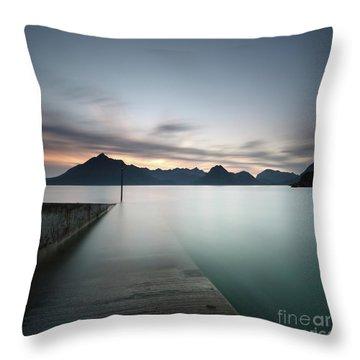 Elgol At Sunset Throw Pillow