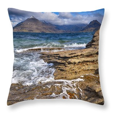 Elgol, Isle Of Skye Throw Pillow
