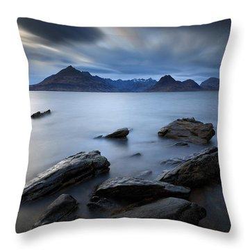 Elgol Rocky Shore Throw Pillow
