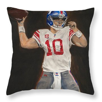 Eli Manning Throw Pillow