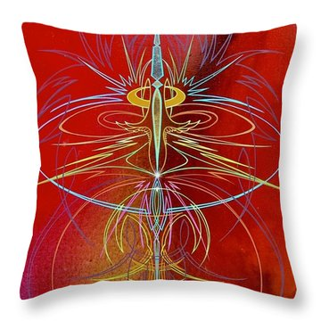 Throw Pillow featuring the painting Elijah's Whirl Wind  by Alan Johnson
