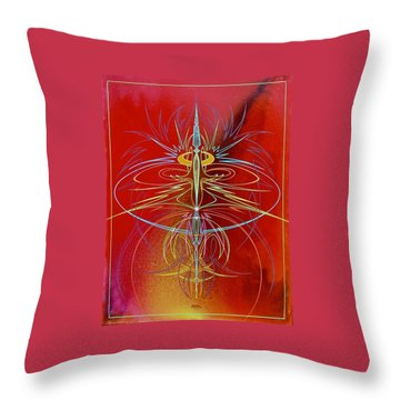 Elijah's Whirl Wind  Throw Pillow