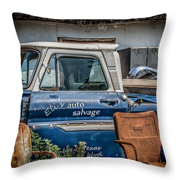 Eli's Auto Salvage Throw Pillow