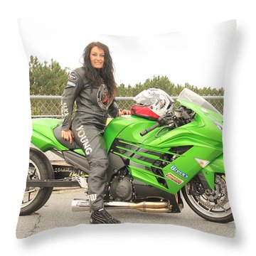 Angie Young Throw Pillow
