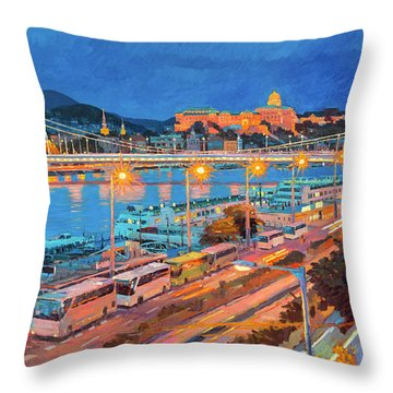 Elisabeth Bridge With Lights Throw Pillow