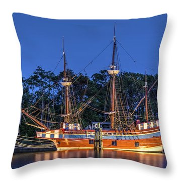 Elizabeth II At Dock Throw Pillow